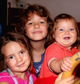 Diana, Diego e la piccola Adele