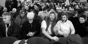 Una magica cinquina: Luca Visentini, Mario Crespan, Ivo Ferrari, Ettore De Biasio e Marco Anghileri. Dalla pagina Intraisass della serata all'Auditorium Canneti (ph Alessandro Pianalto)