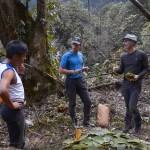 14. Preparazione del campo nella foresta (ph E. Ferri – K2014.it)