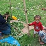 5. Famiglia di Lepcha, l'unica popolazione di nativi originali del Sikkim, minoranza del paese, abitato soprattutto da Buthia (originari dal Tibet) e da Nepalesi (ph E. Ferri – K2014.it)