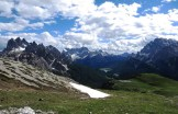 Ultimo giorno in Slovenia in zona passo Vrsic, dopo aver camminato a lungo sui resti di una valanga con una caviglia gonfia
