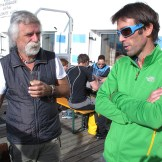 Sandro Filippini e Hervé Barmasse al IMS Walk Day 2014 (ph. Teddy Soppelsa)