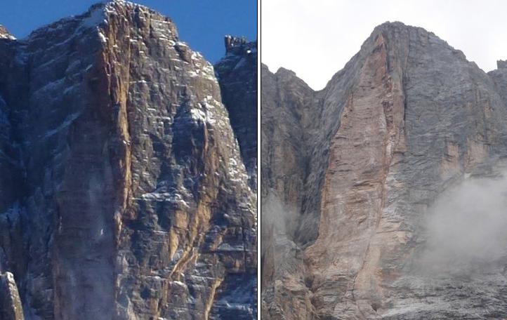 Su Alto (2951 m), confronto del 11.2013 con il 10.2014