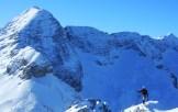 Sulla cresta del Golovec, dietro il Monte Forato, in secondo piano il Kanin
