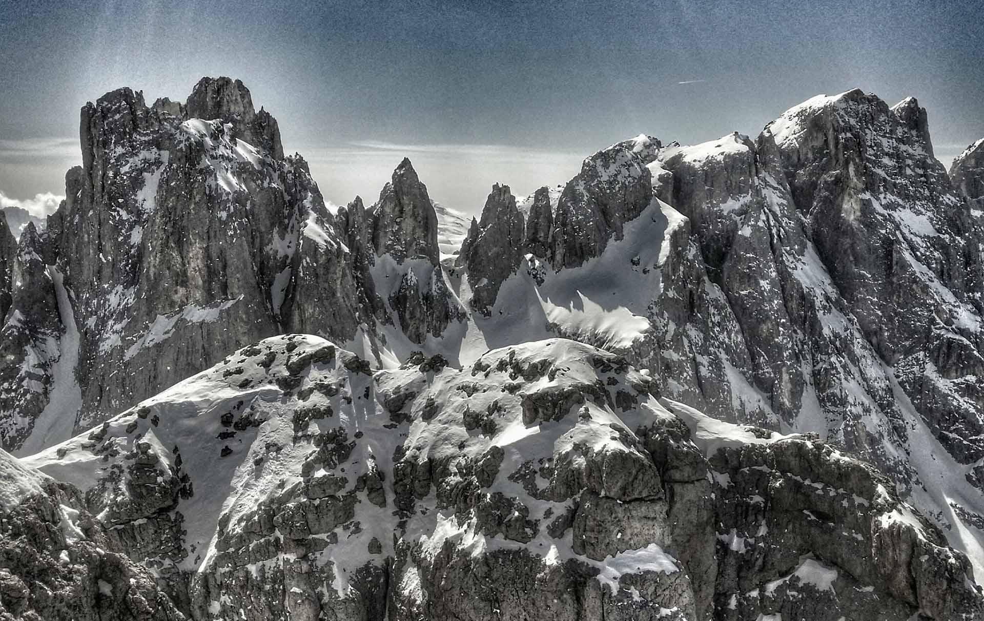 Dal Monte Mulaz verso le Pale di Focobòn