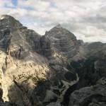 Vista delle Tofane e della Val Travenanzes