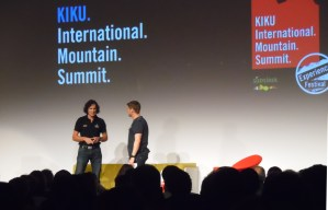 L'alpinista Stefan Glowacz sul palco dell'IMS
