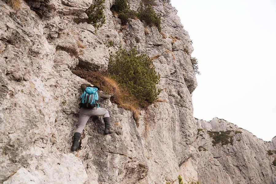 Quota 1686. Salita da Sud Ovest dell'anticima più occidentale del monte Giavons, gruppo Caserine-Cornaget, Dolomiti di destra Tagliamento (D. dx T.), foto A. Fiorot