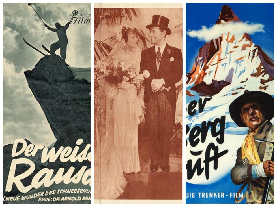 Fig.6. Locandina di «Der weisse Rausch», 1931. Fig.7. Locandina di «Liebesbriefe aus dem Engadin», 1938. Fig. 8. Locandina di «Der Berg ruft!»,1938.