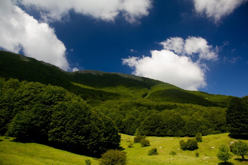Monte Pollino, veduta dal Colle dell'Impiso
