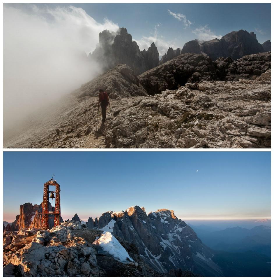 Ancora pochi passi alla vetta del Monte Mulaz; la cima del Monte Mulaz (ph. Tommaso Forin)