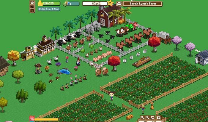 Farmville Facebook Game Play