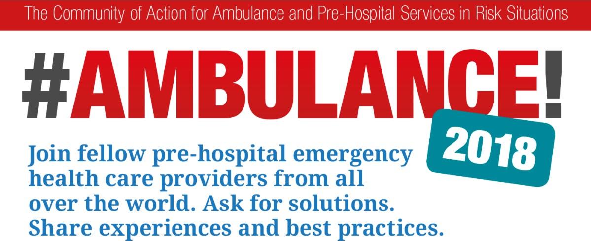 #Ambulance! webinar 02 (6 November 2018) recording and resources