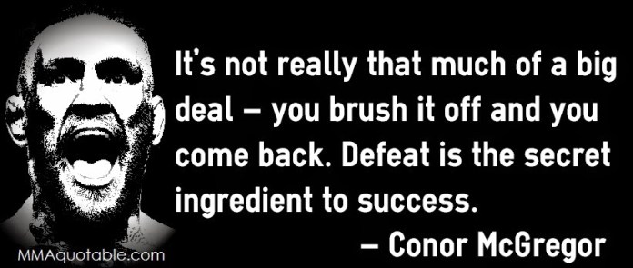 defeat is a state of mind