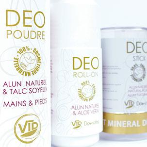 Soin du corps au naturel déodorants