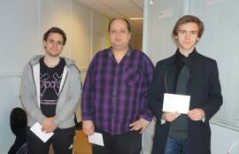 fv: Espen Forså, Maxim Turow og Benjamin Halvorsen