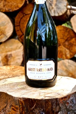 Agustí Torelló Mata's Gran Reserva 2009 comes in a bottle embossed with the cava's logo.