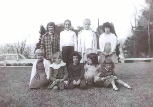 L-R Nancy, Melanie, Brenda, Mary Todd, myself, Susan, Pam, Tonya and Kim below