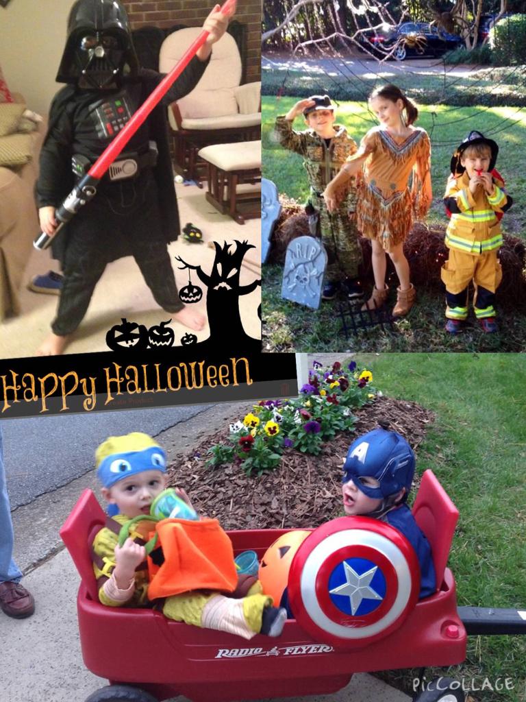 All Six Grandchildren in last year's costumes.