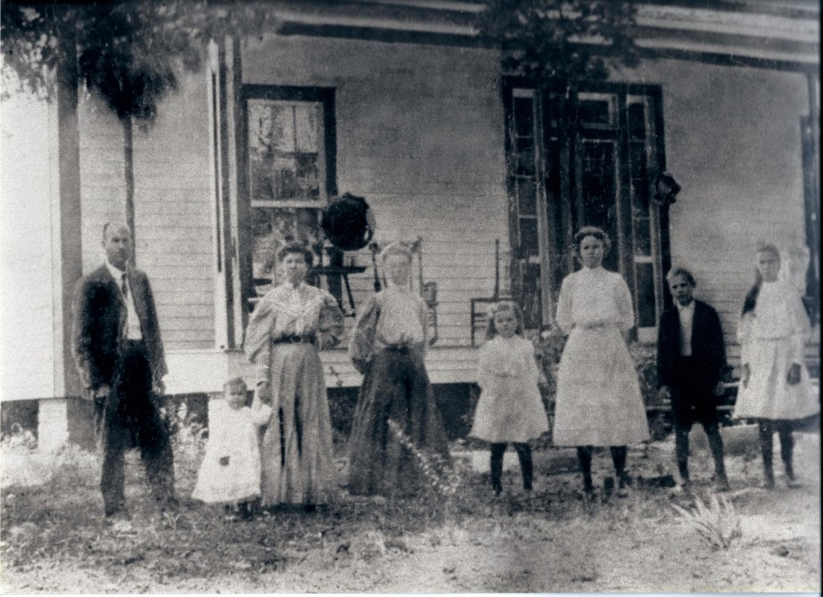 Ranny with her family in Dalton, Georgia. She is on the far right.