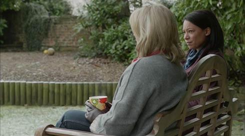 Sarah Lancashire and Nina Sosanya