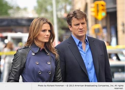Stana Katic and Nathan Fillian in Castle