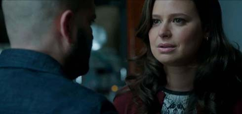 Guillermo Díaz as Huck and Katie Lowes as Quinn