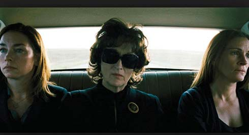 The drive to the funeral in August: Osage County