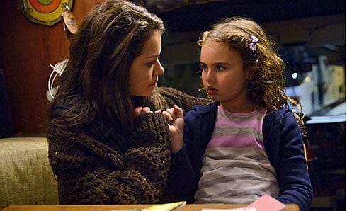 Sarah and Kira in the camper