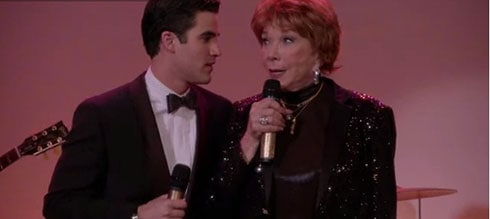 Shirley Maclaine and Darren Criss