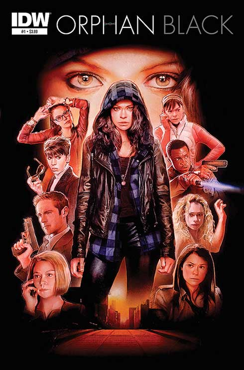 One cover image for the upcoming Orphan Black comic book