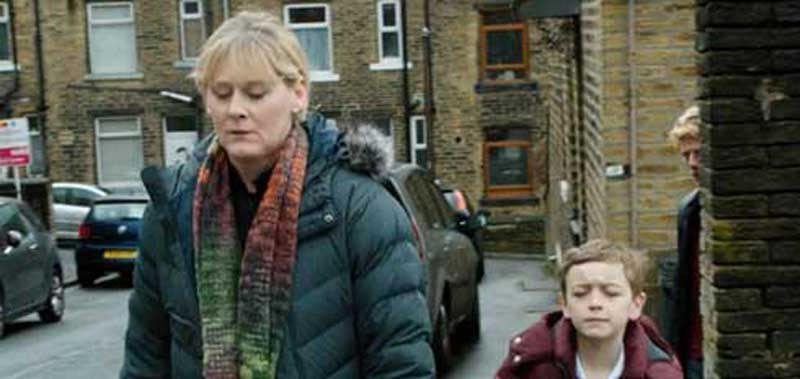 Sarah Lancashire and Rhys Connah in Happy Valley