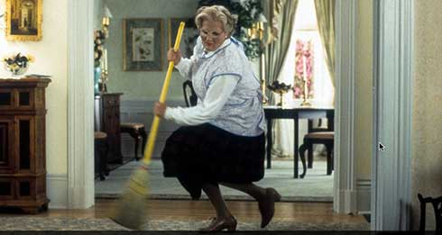 Robin Williams in Mrs. Doubtfire