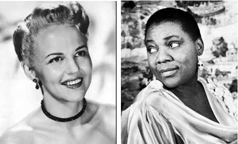 Peggy Lee and Bessie Smith