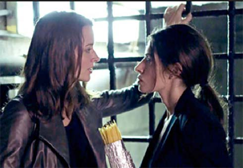 Amy Acker and Sarah Shahi in Person of Interest
