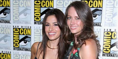 Sarah Shahi and Amy Acker