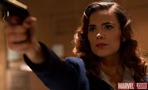 Agent Peggy Carter played by Hayley Atwell