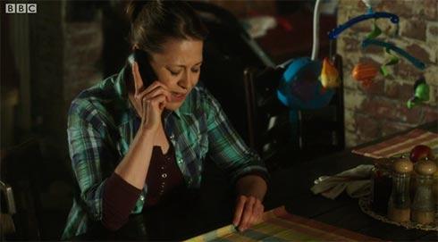 Nicola Walker on the phone