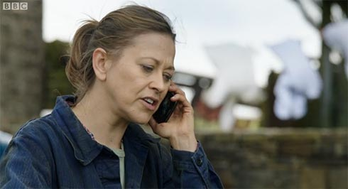 Gillian on the phone