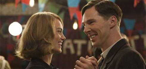 Kiera Knightly and Benedict Cumberbatch in The Imitation Game