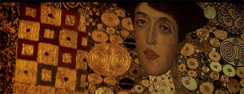 Woman in Gold painted by Gustav Klimt