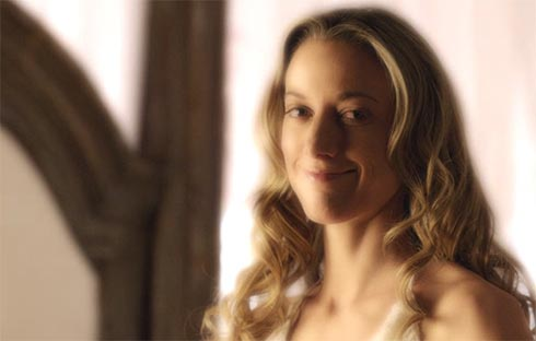 Zoie Palmer smiling
