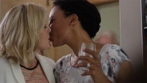 Caroline and Kate kiss