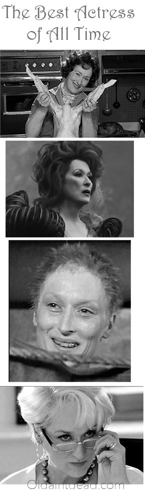 Meryl Streep as 4 different characters