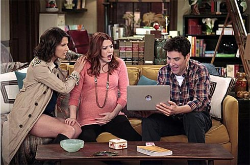 Alyson Hannigan, Josh Radnor, and  Cobie Smulders in How I Met Your Mother from 2012