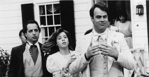 Dan Aykroyd, Jon Lovitz, and Alyson Hannigan in My Stepmother is an Alien from 1988