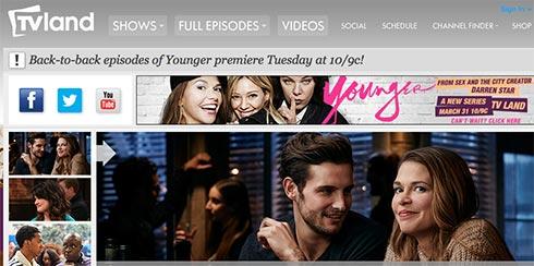 TVland home page