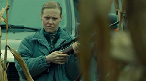 Bonnie with a rifle