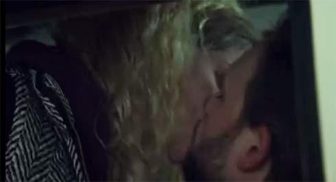 Helena and Jesse kiss