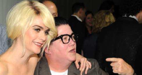 Taryn Manning and Lea DeLaria at a LOGO TV event